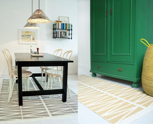 helmi esszimmer teppich kunststoff  skandinavisch einrichten brita sweden designer teppiche