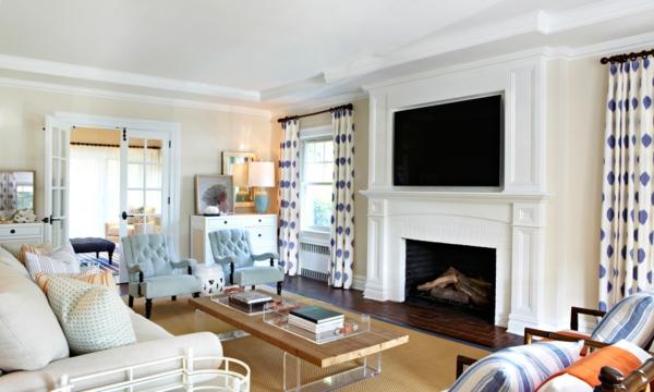 holländische möbel design wohnzimmer kamin