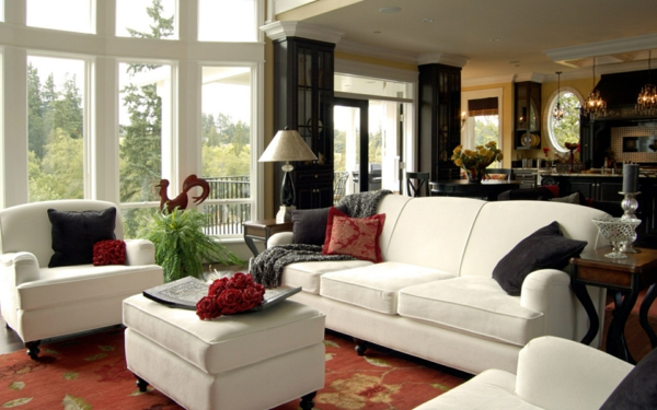 holländische möbel möbeldesign weiß roter teppich