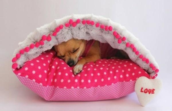 hundebett-selber-bauen-designer-ideen-rosa-kissen