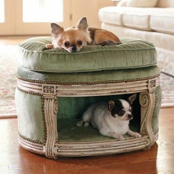 hunde bett selber bauen hocker umbauen