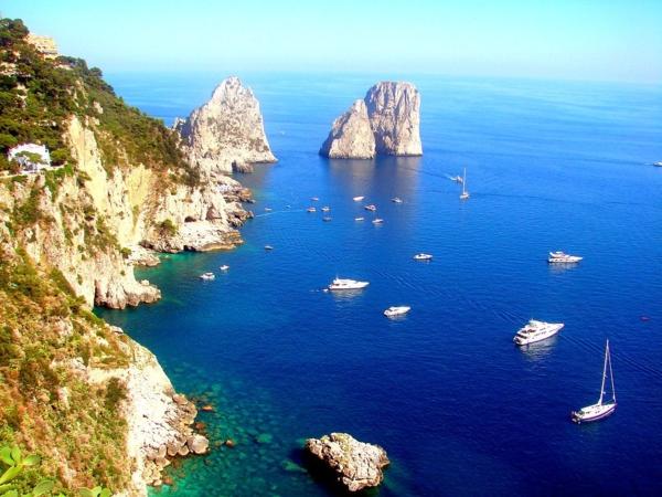 insel capri italien mittelmeer länder mediterrane kultur natur