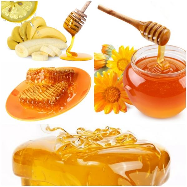 ist honig gesund bananen zitronen gesundheit Collage