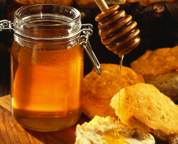 ist honig gesund einweckglas getoastetes brot