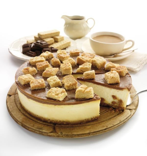 käsekuchen rezept einfach karamel kekse