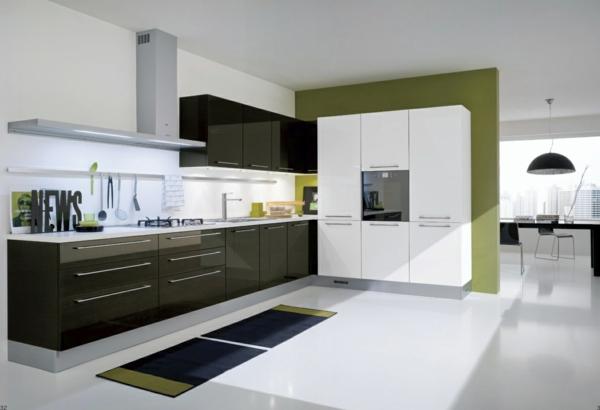 küche einrichten modern geschmackvoll teppichläufer