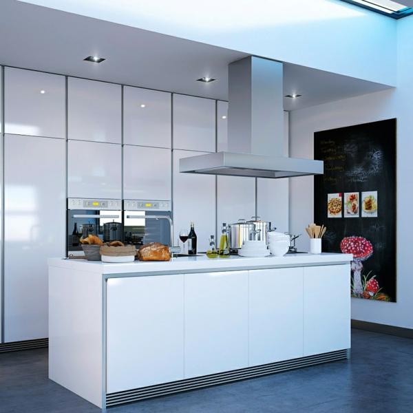 küche einrichten weiße kücheninsel einbauleichten