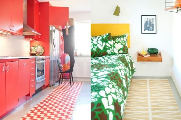 küche läufer bettvorleger teppich kunststoff  brita sweden designer teppiche