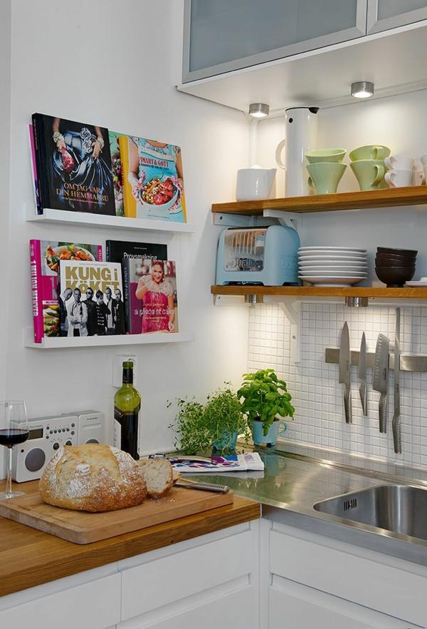 küche wandregale küchenrückwand mosaikfliesen