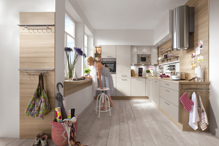 küchendekoration ideen küche einrichten holzküche