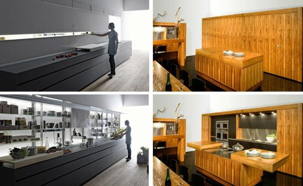kücheneinrichtung ideen unsichtbare küche schöne wohnideen
