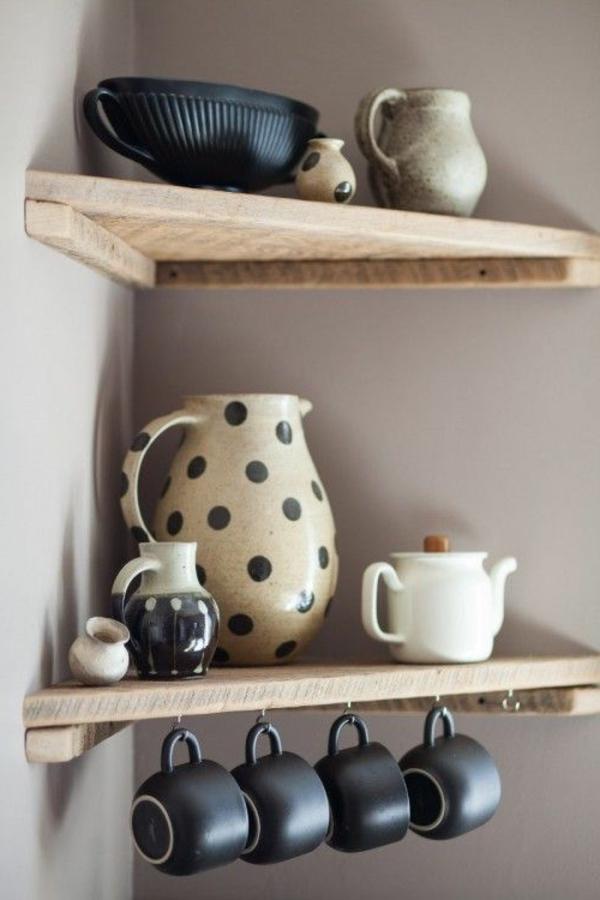 stunning k chen regale holz pictures. Black Bedroom Furniture Sets. Home Design Ideas