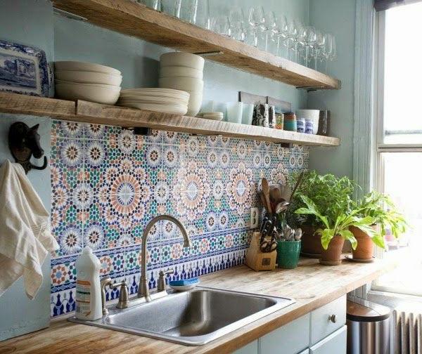 küchenregale offen rustikaler look