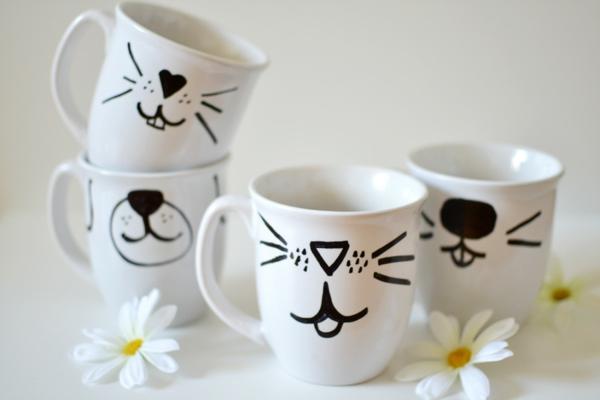 kaffeetasse selber bemalen lustige mäule