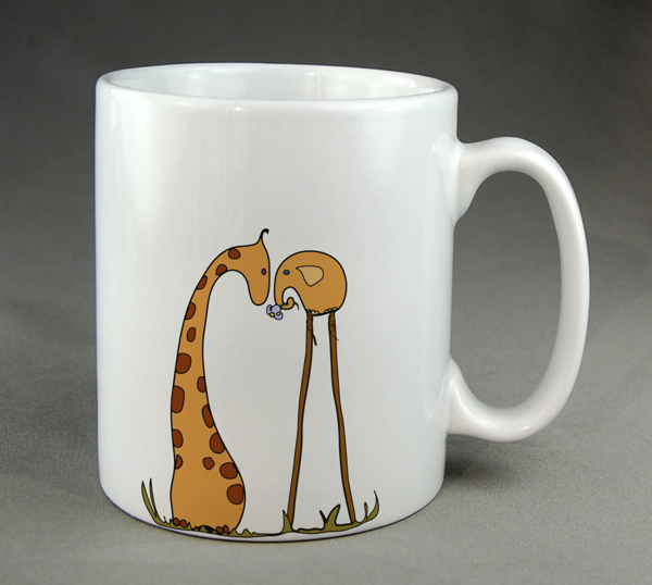 kaffeetasse selber bemalen lustige tiere