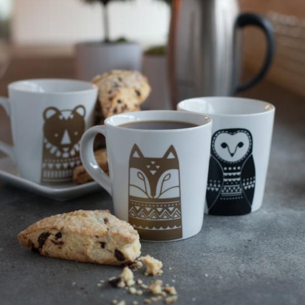 kaffeetasse selber bemalen tiere