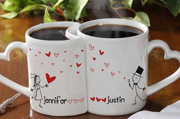 kaffeetasse selber bemalen verliebte liebe hochzeit