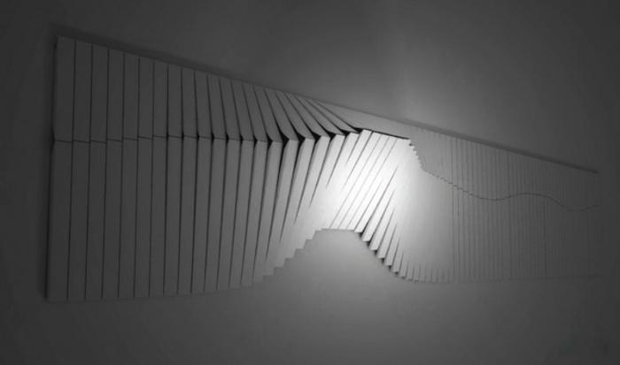 kinetische kunst installation wand moderne skulpturen