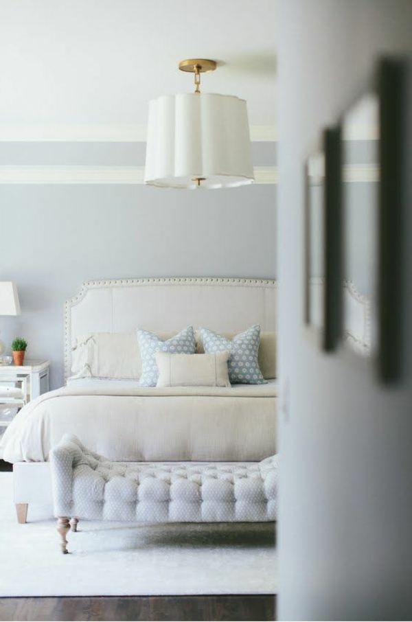 kissen landhausstil schlafzimmer weiße einrichtung