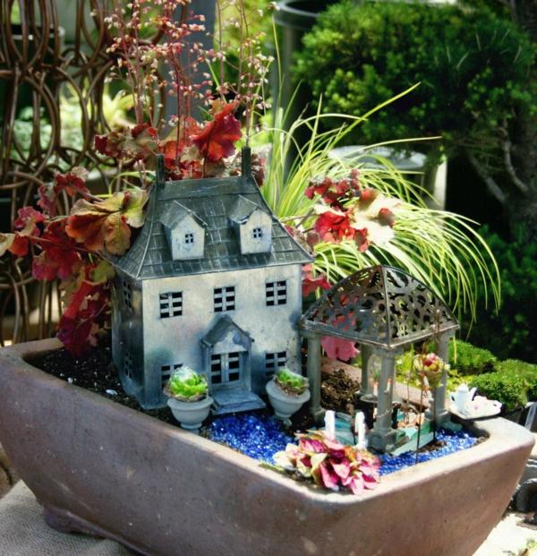 kleine gärten anlegen blechhaus pavillion