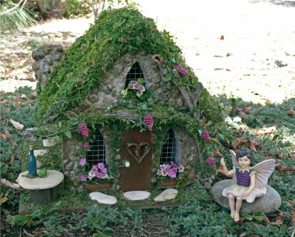kleine gärten anlegen elfenhaus elf