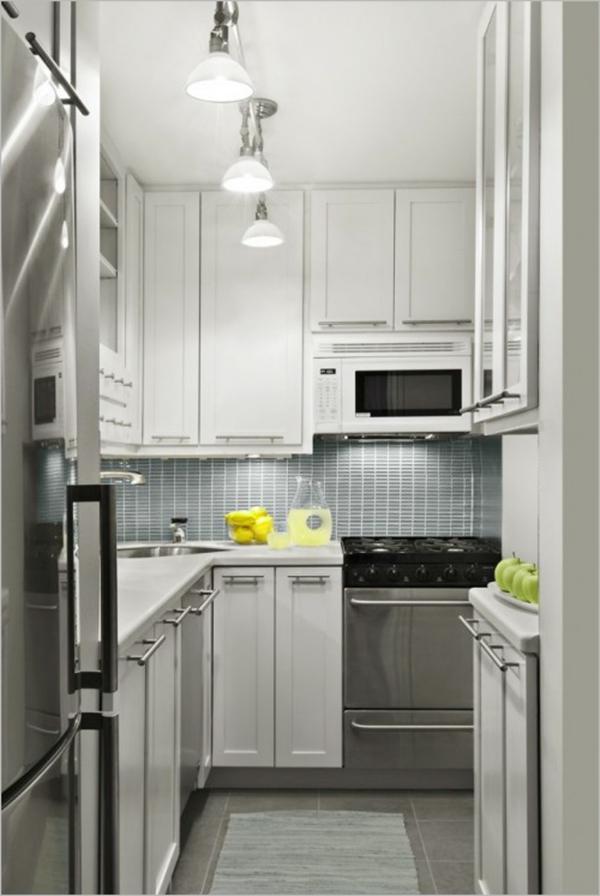 Moderne Küchen Für Kleine Räume ~ kleine räume einrichten moderne kleine küche pendelleuchten
