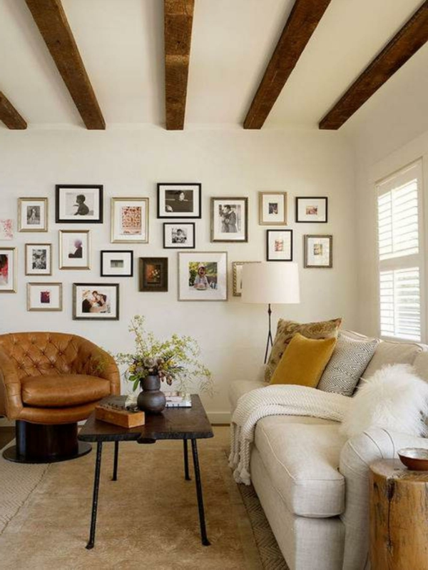 Kleine Räume Einrichten Wohnzimmer Ledersofa Bilder