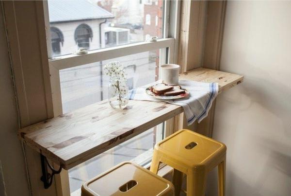 kleine wohnung einrichten tipps frühstücksnische
