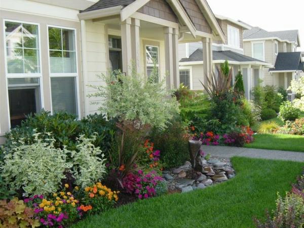 kleinen vorgarten gestalten vorgartengestaltung gestalten schön ästhetisch fußweg
