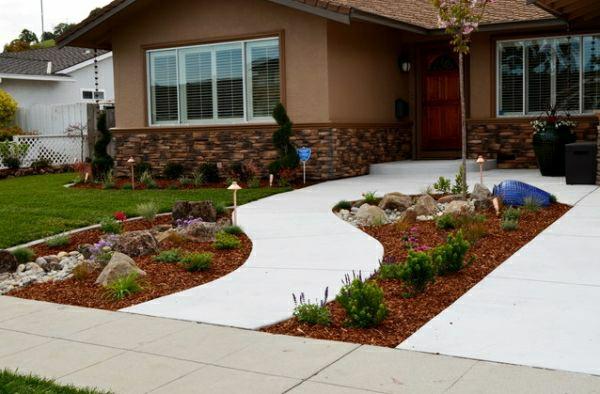 kleinen vorgarten gestalten vorgartengestaltung modernes haus