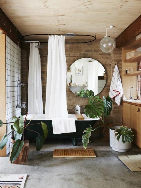 kleines bad einrichten ideen freistehende badewanne