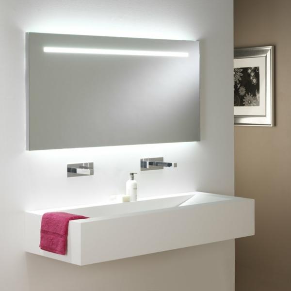 kleines bad einrichten ideen leuchten spiegel
