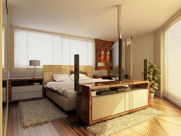 kleines schlafzimmer einrichten beige teppiche