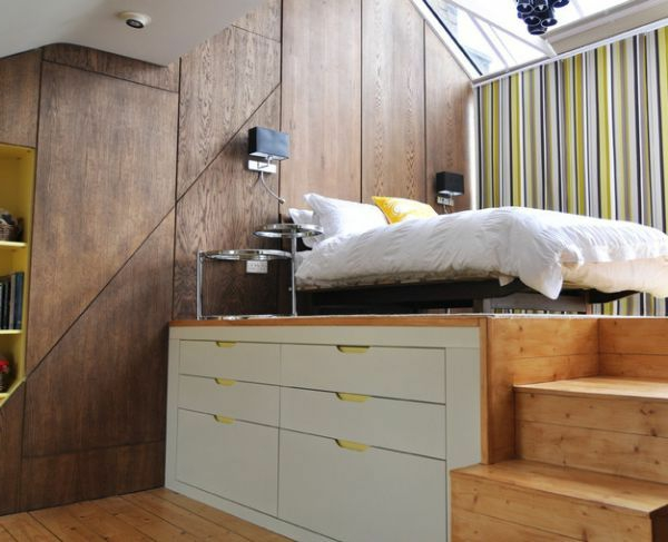 kleines schlafzimmer einrichten funktionale lösung
