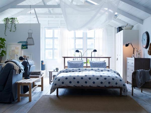 kleines schlafzimmer einrichten offener wohnplan
