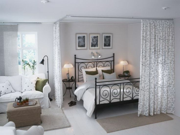 Kleines Jugendzimmer Wie Einrichten : offener wohnplan kleines schlafzimmer einrichten raumtrenner