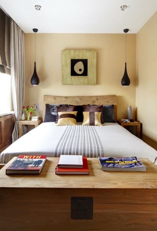 kleines schlafzimmer einrichten sanfte wandgestaltung