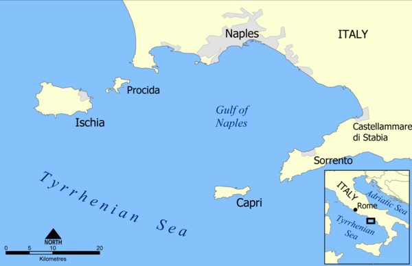 landkarte insel capri italien