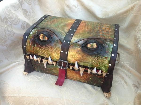 ledertaschen koffer krokodil truhe