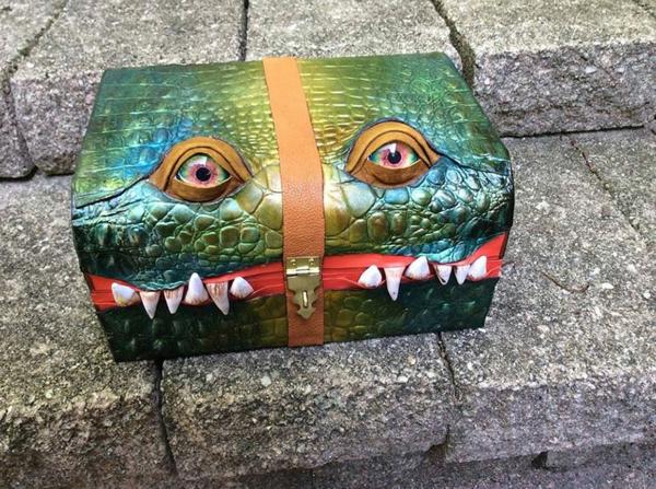 ledertaschen krokodil zähne koffer