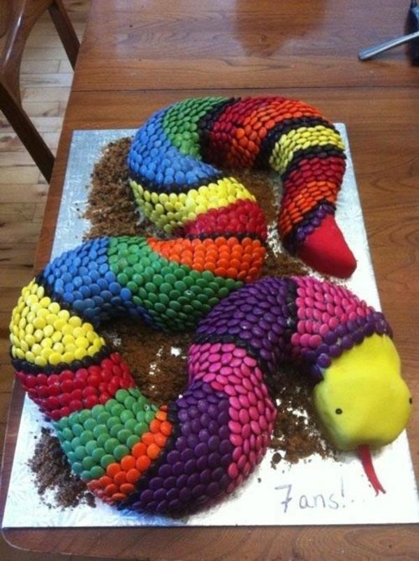 lustige torten tiere design farbig