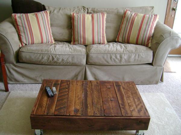 möbel aus paletten couchtisch wohnzimmer einrichten