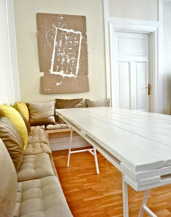 möbel aus paletten weiß design ecksofa