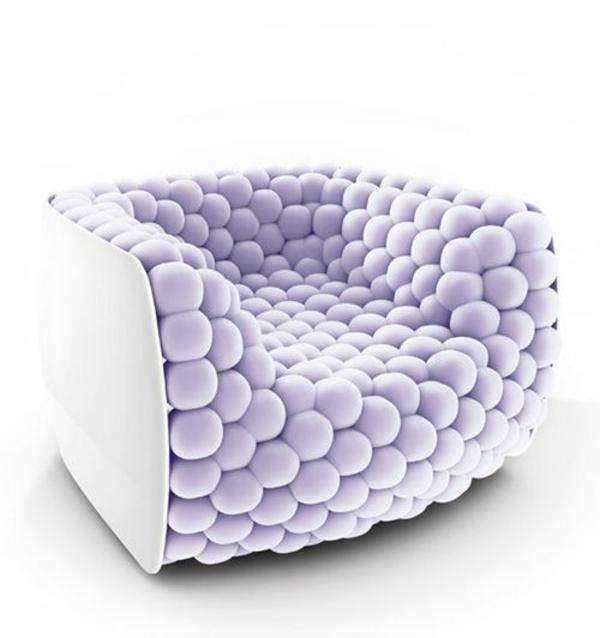 möbeldesigner Carloä Colombo polstersessel designer möbel lila