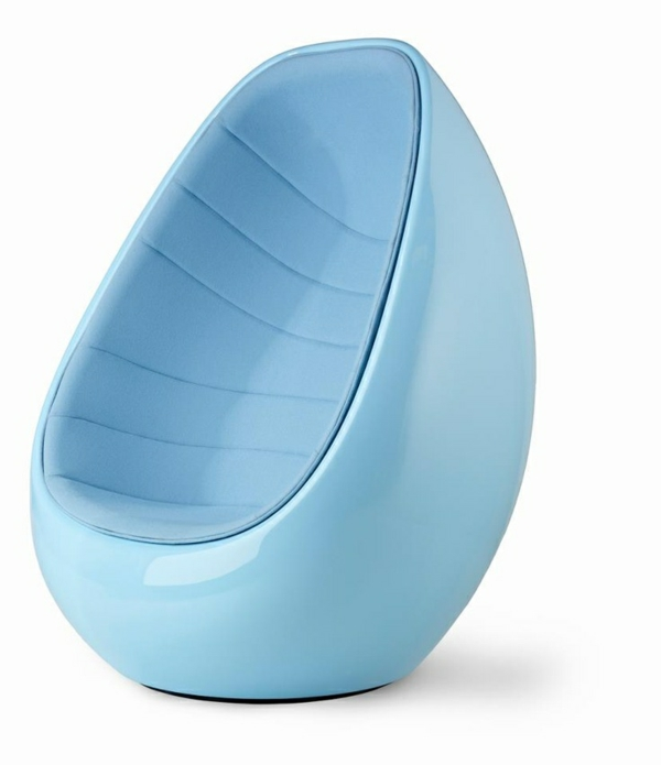 möbeldesigner karim rashid designer sessel the koop chair hellblau