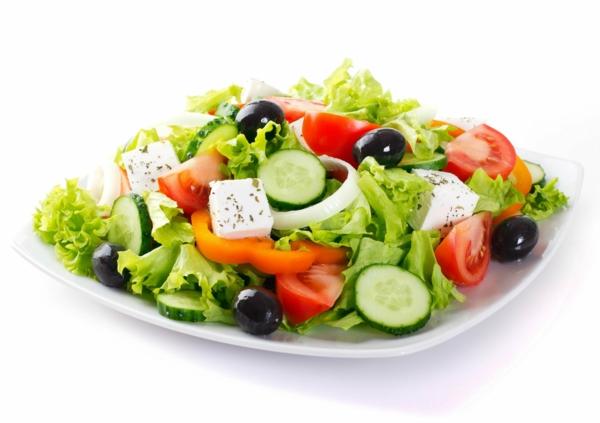 mediterrane diät gemischter salat käse