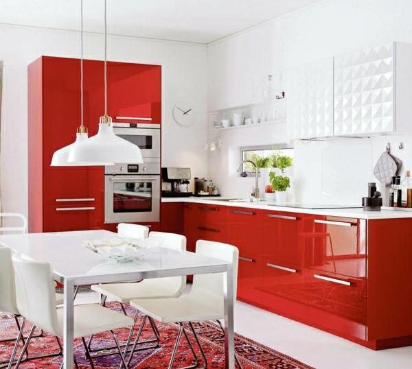 metod küchen hochglanz rot weißKüchendesign