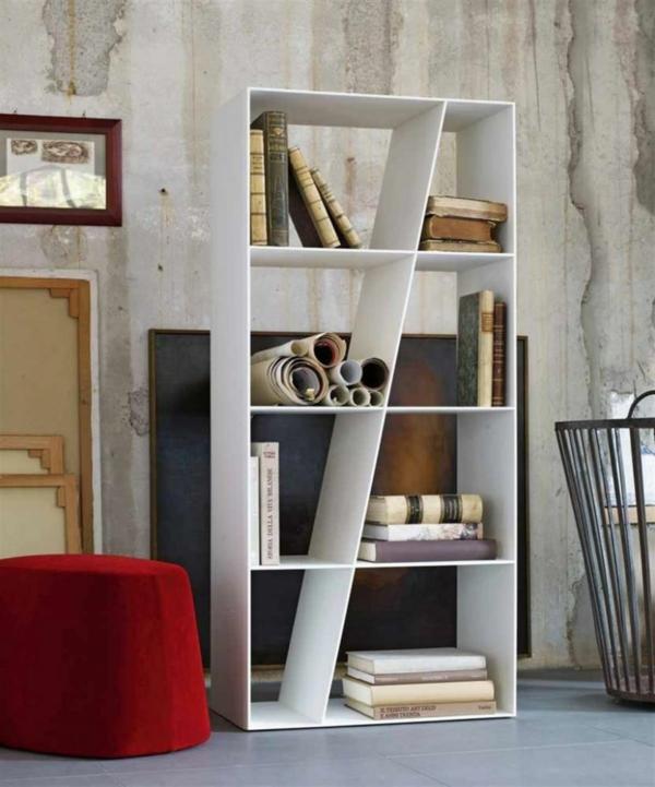 b cherregal wand designer wandregale im wohnzimmer. Black Bedroom Furniture Sets. Home Design Ideas