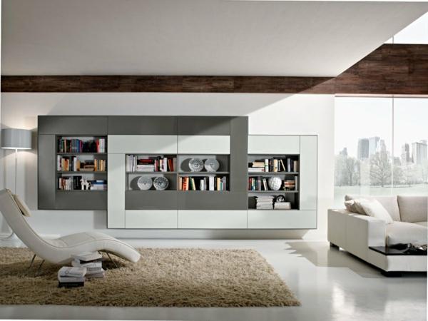 Moderne Regalsysteme Bücher Bücherregal Wand Wohnzimmer Möbel