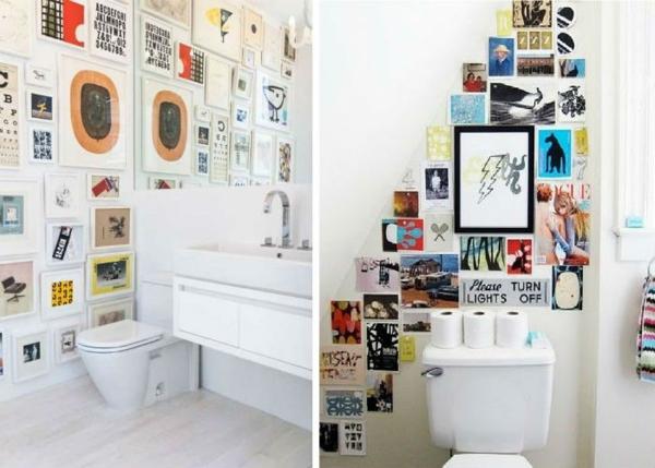 modernes badezimmer wände dekorieren weiß farbig